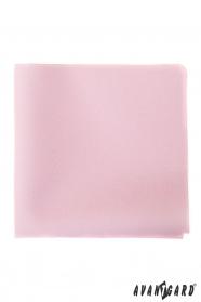 Jemná ružová vreckovka pre pánov