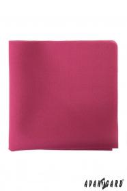Jednofarebná vreckovka do saka tmavoružová