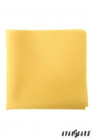 Žltá pánska vreckovka horčicovej farby