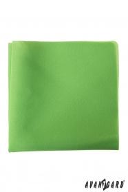 Zelená pánska vreckovka z polyesteru