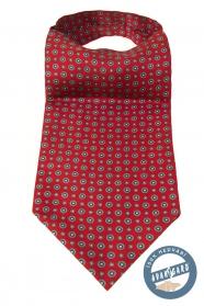 Červený Askot s kvetinovým vzorom