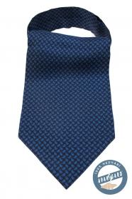 Tmavo modrý hodvábny Askot s Paisley vzorom