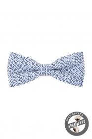 Biely bavlnený motýlik modré okuliare