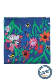 Vreckovka hodvábna Včely a kvety