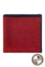 Červená vlnená pánska vreckovka do saka