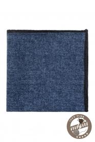 Tmavo modrá vlnená vzorovaná vreckovka