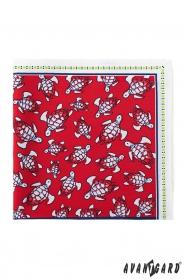 Pánska vreckovka červená korytnačka