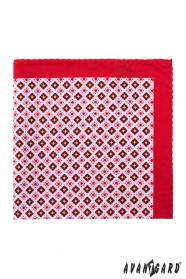 Vreckovka červená drobný vzor