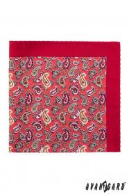 Vreckovka Paisley v červené