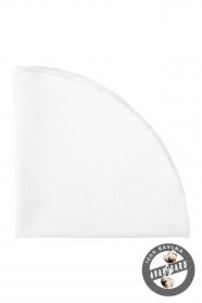 Biela bavlnená vreckovka jemná štruktúra