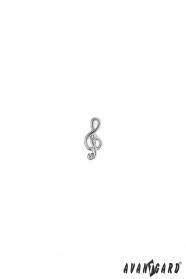 Špendlík do klopy saka - husľový kľúč