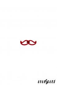 Špendlík do klopy saka - červené fúzy