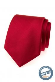 Červená kravata hodvábna v darčekovej krabičke