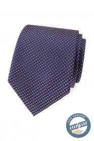 Hodvábna kravata s modro-červeným vzorom