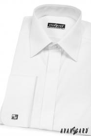 Pánska košeľa MG s krytou légou - V1-Biela