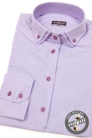Dámska košeľa lila s dlhým rukávom