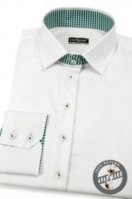 Biela dámska košeľa s dlhým rukávom