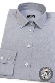 Dámska košeľa v šedej farbe, dlhý rukáv