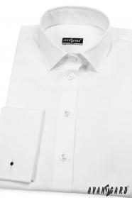 Biela dámska košeľa na manžetové gombíky