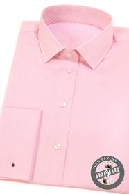 Ružová dámska košeľa na manžetové gombíky