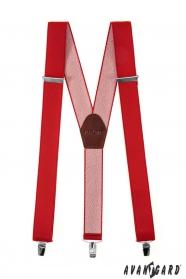 Široké traky na kovové klipy červené