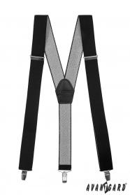Čierne traky so zapínaním na klipy - 35 mm