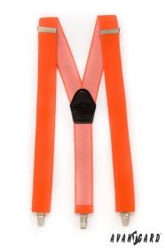 Jasne oranžové pánske traky