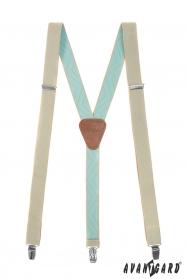 Béžovo-mätové traky s hnedou kožou
