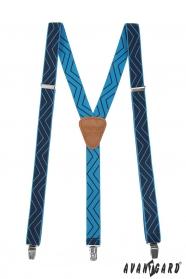 Modré traky so vzorom