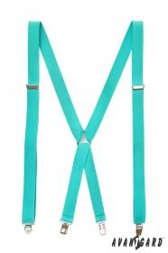 Mätové pánske traky s kovovým stredom a zapínanim na klipy