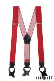 Červené pánske traky kožená pútka