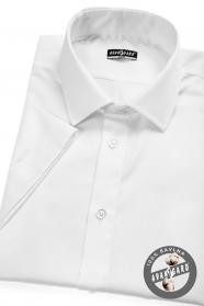 Biela Pánska košeľa SLIM s krátkym rukávom