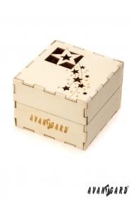 Drevená darčeková krabička Vianoce