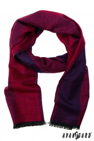 Červeno-modrý vzorovaný šál