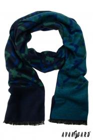 Modro-zelený spoločenský šál