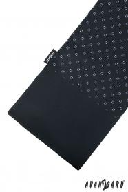 Čierný šál s modrým vzorom
