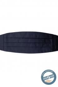 Pánsky hodvábny smokingový pás v tmavomodrej