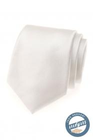 Jemno smotanová hodvábna kravata v darčekovej krabičke