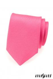 Matná kravata v růžovej