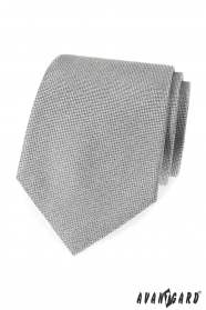 Šedá pánska kravata so štruktúrou