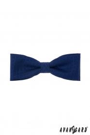Tmavo modrý bavlnený pánsky motýlik s modrým vzorom