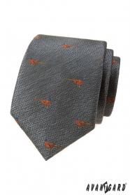 Šedá kravata, vzor Bažant