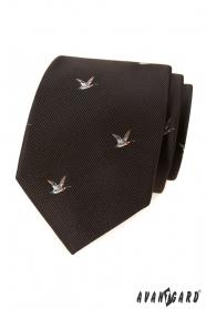 Hnedá kravata vzor Kačica