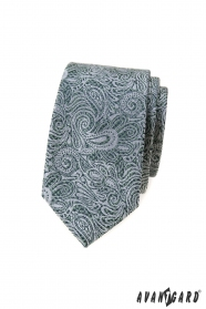Slim kravata s paisley vzorom