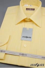 Pánska košeľa LUX dlhý rukáv - 4271-žltá