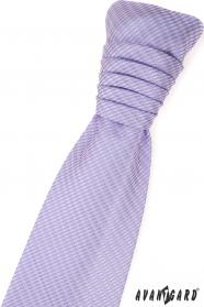 Lila francúzska kravata s jemným vzorom