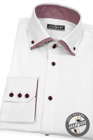 Biela košeľa červeno kombinovaná