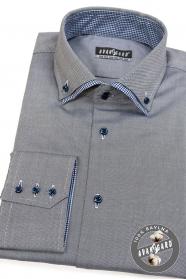Sivá pánska košeľa bavlnená