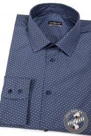 Pánska košeľa bavlnená tmavomodrá svetlý vzor