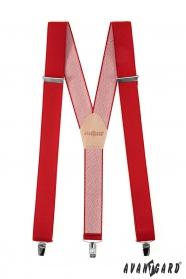 Klasické pánske traky v červenej farbe